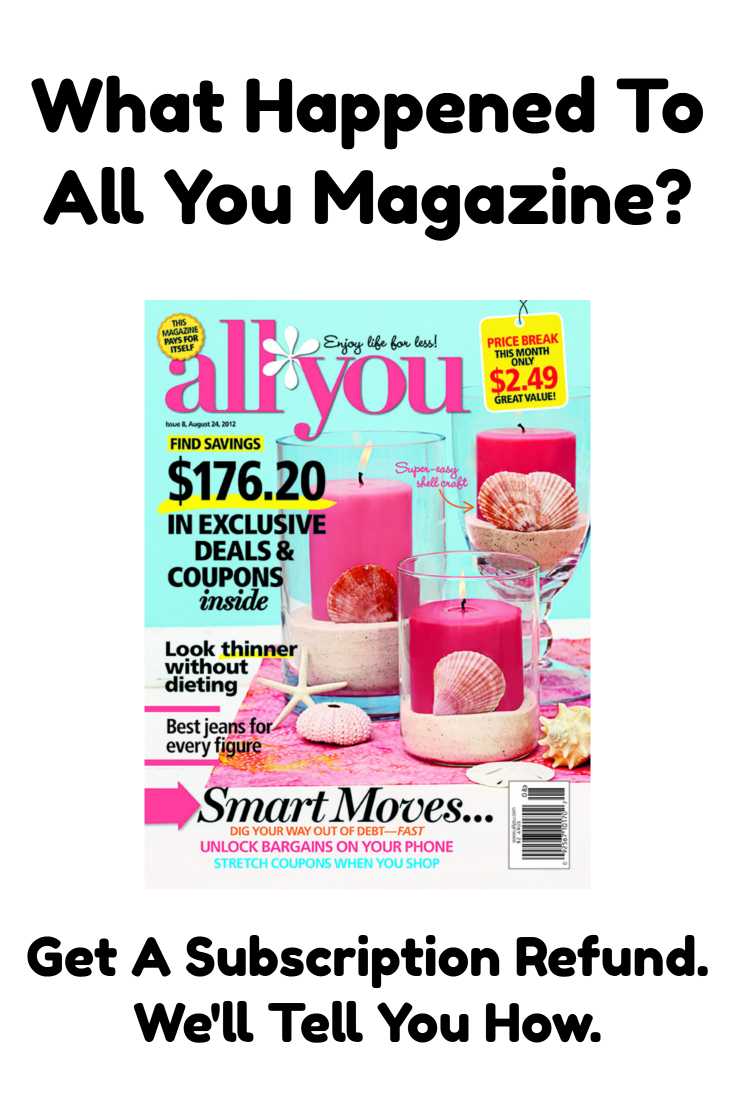 What Happened To All You Magazine? Get Your Subscription Refund.