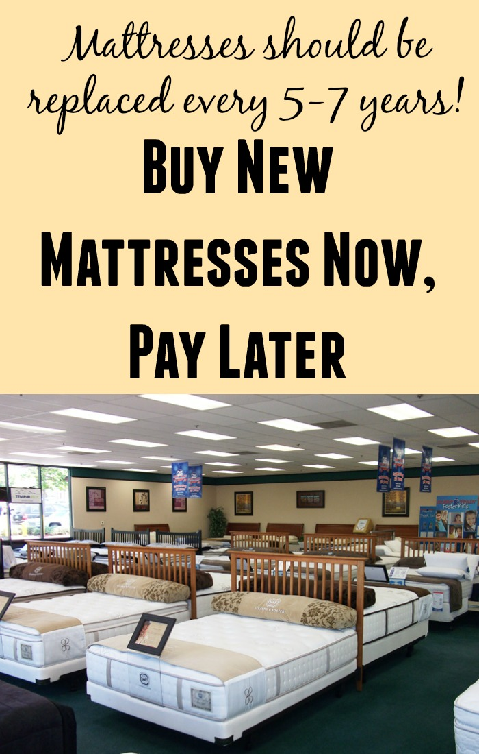 Buy Mattresses Now, Pay Later