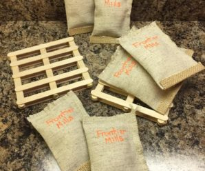 Homemade Farm Toys: Pallets, Feed Sacks & Double Bale Fork