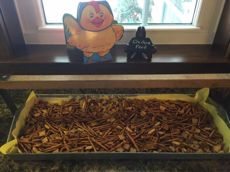 Pretzel Chex Party Mix for Barnyard Theme Party