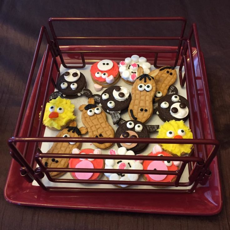 Animal Cookies in Pen for Farmyard Party