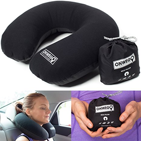 ONWEGO Soft-Top Inflatable Neck Pillow