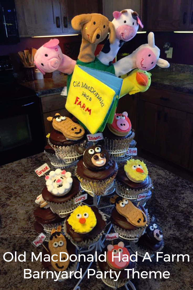 Click for barnyard party food and decoration ideas, such as these cute farm animal cupcakes!