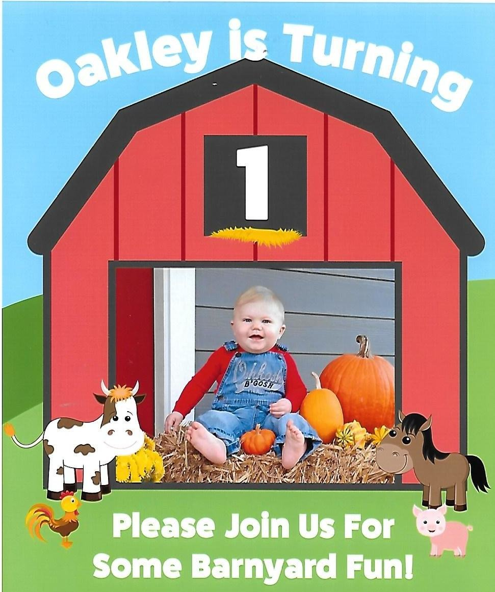Invitation for 1-Year-Old Barnyard Party