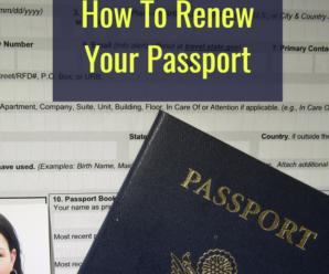 How To Renew Your Passport