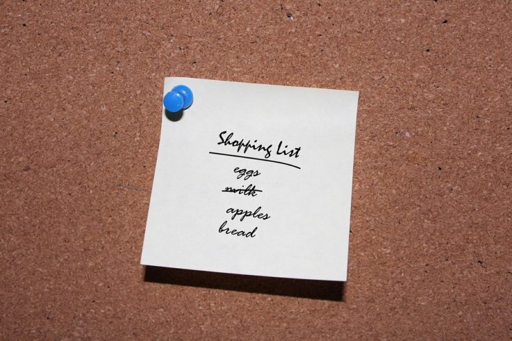 Always Make A Shopping List