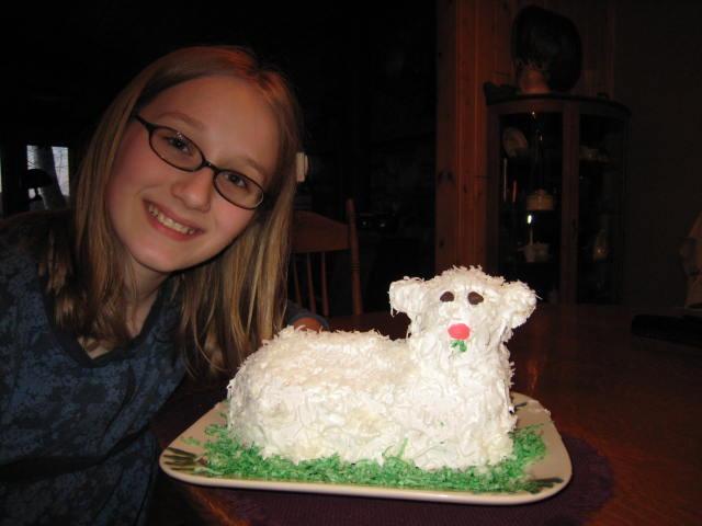 Lamb Cake - Easter 2009