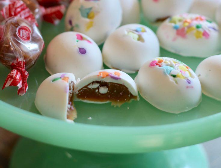 Caramel Cream Chocolate Eggs