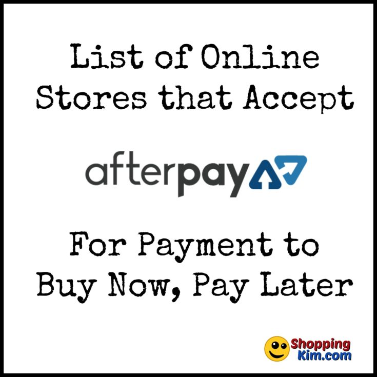 Online Stores That Accept AfterPay