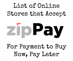 Online Stores That Accept zipPay To Buy Now, Pay Later