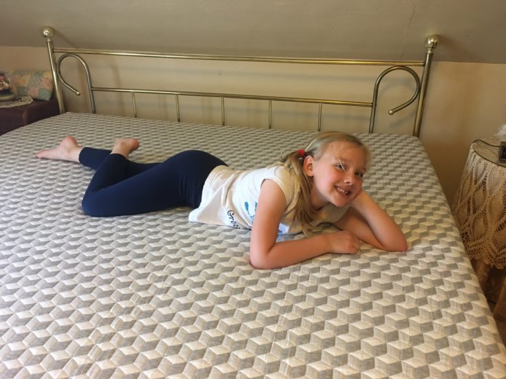 Niece testing out new Layla mattress
