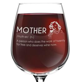 Mother Definition Novelty Wine Glass