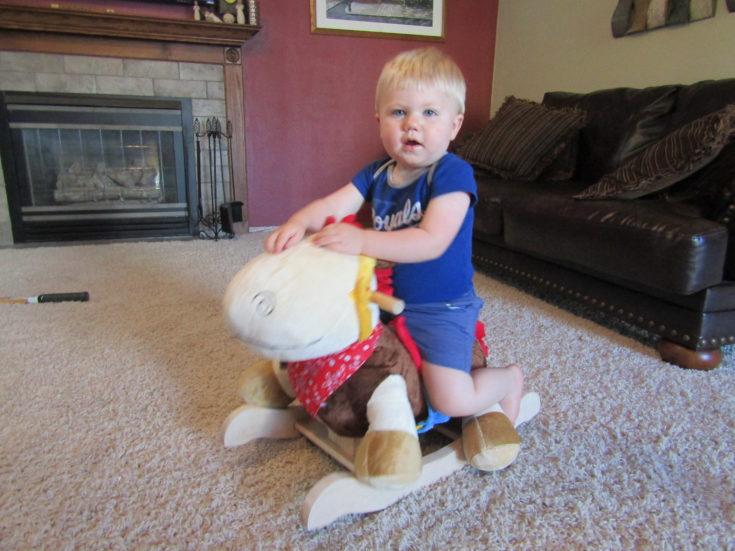 Oakley on rocking horse