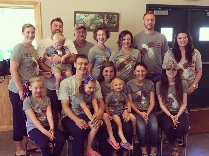 Family Dressed Alike for Family Reunion