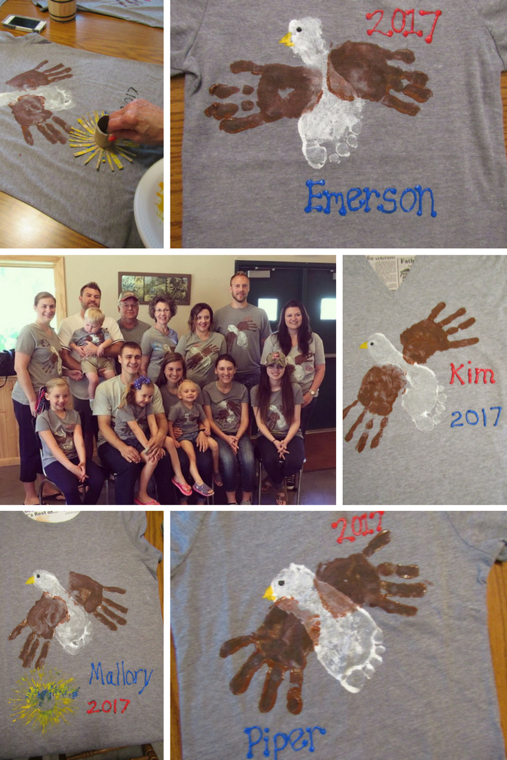Handprint-Footprint Eagle Homemade Tshirt Design