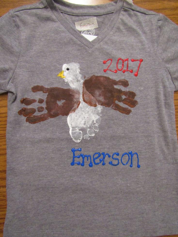 Handprints and Footprints Eagle Tshirt Design
