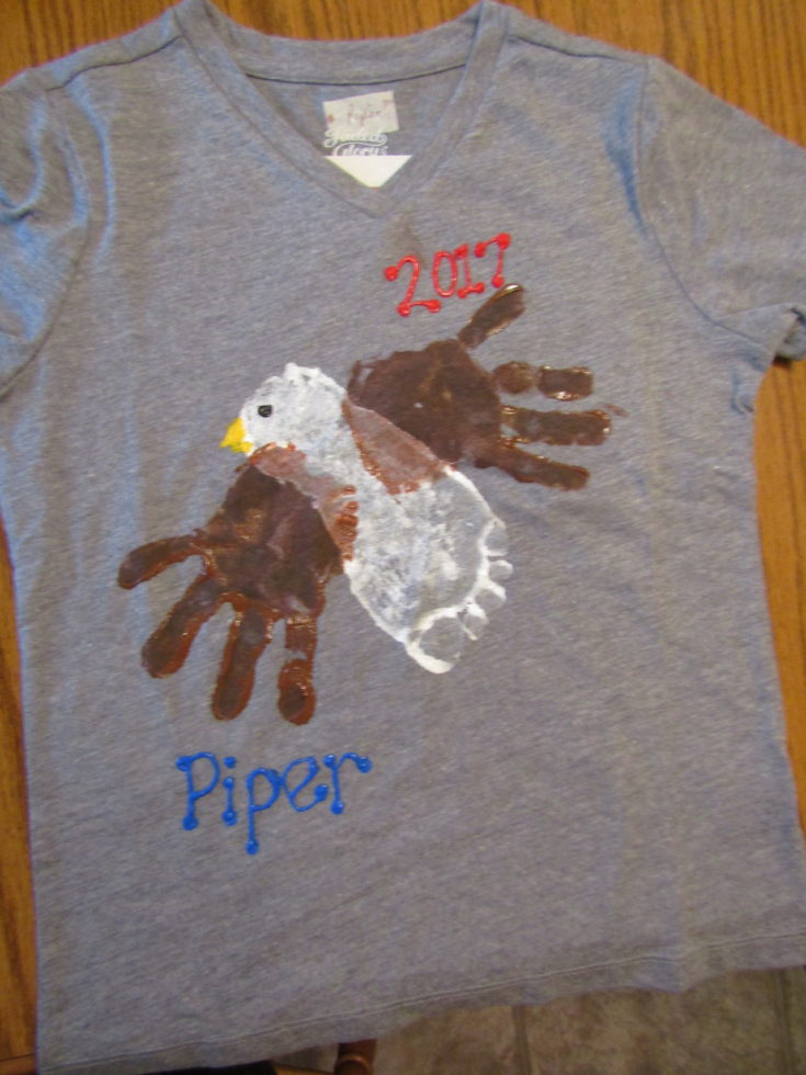 Handprint & Footprint Eagle Tshirt Design