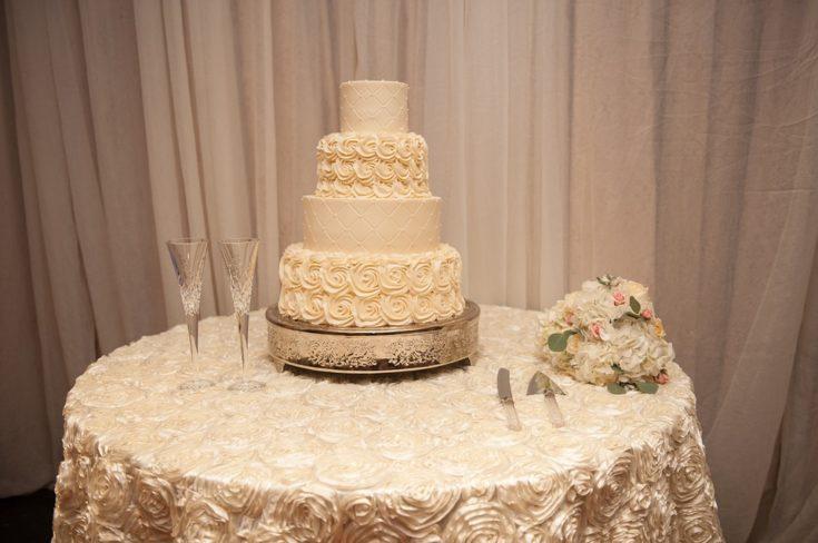 Beautiful 4-Tier White Wedding Cake