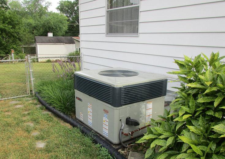 HVAC Unit outside home