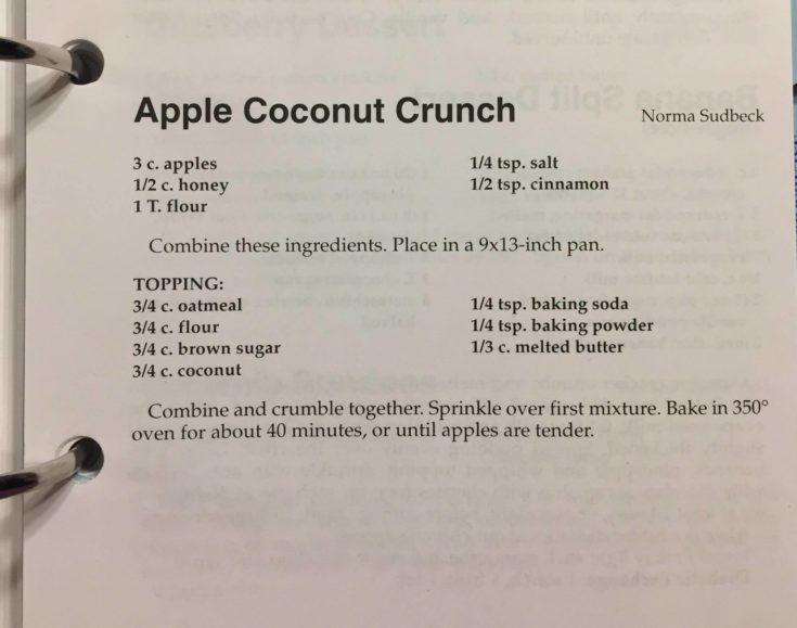 Apple Coconut Crunch Recipe