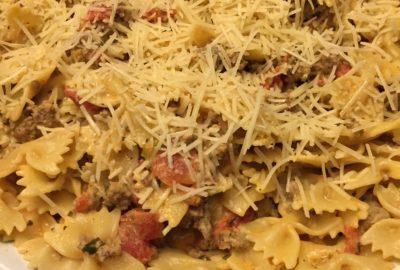 Italian Sausage Bow-Tie Pasta