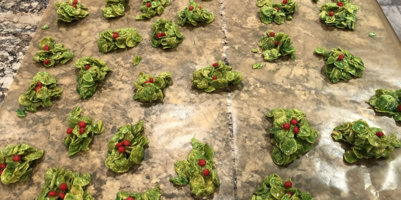 Corn Flakes Holiday Wreaths Recipe
