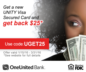 Free $25 Credit from UNITY Visa