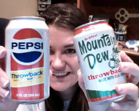 Throwback Pepsi and Mountain Dew Cans