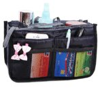 JET-BOND XB001 Multi-Pocket Handbag Organizer Purse Insert Liner Pouch Medium Size with Handles Many Pockets