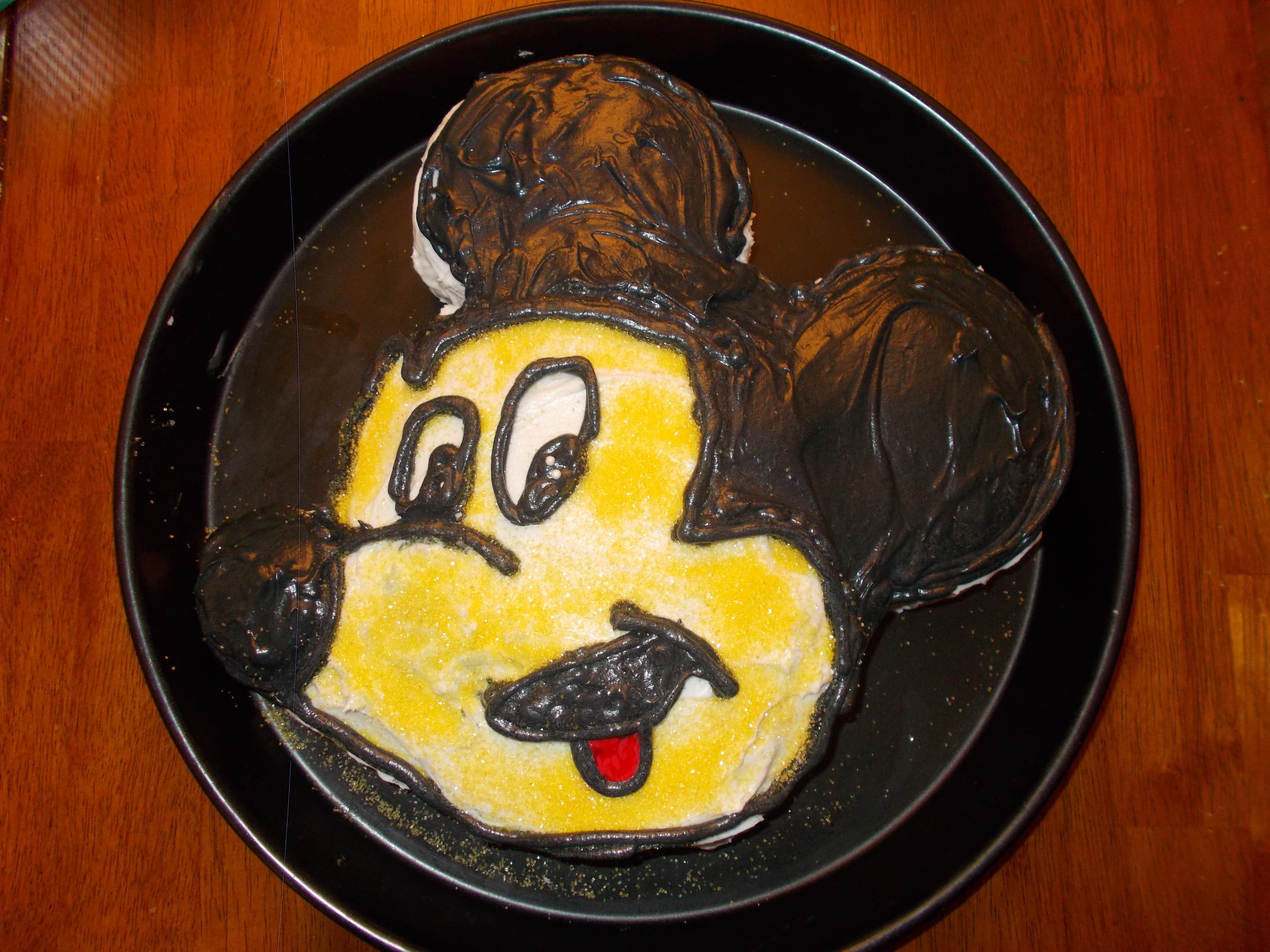 Tie-Dye #DisneySide Mickey Mouse Cake