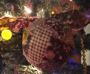 DIY Patchwork Christmas Ornaments