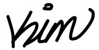 Kim's Autograph