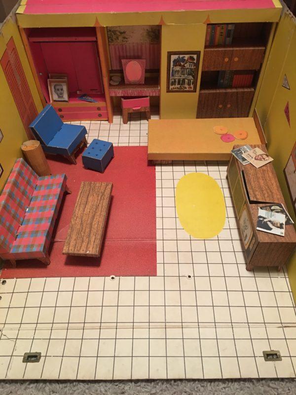 1965 Barbie Dream House Cardboard Furniture