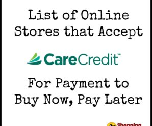 Stores That Accept Care Credit To Buy Now, Pay Later