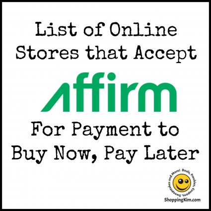 online stores that accept affirm to buy now pay later shopping kim