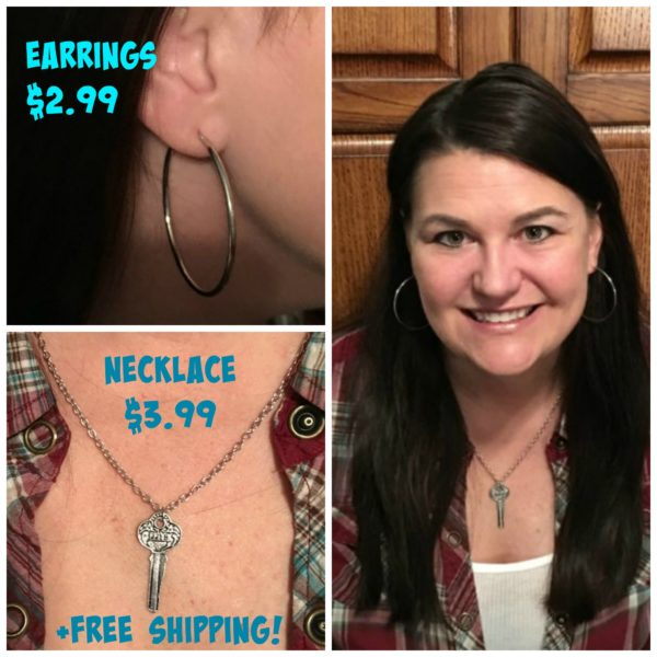 Earrings $2.99 & Necklaces $3.99 + Free Shipping!