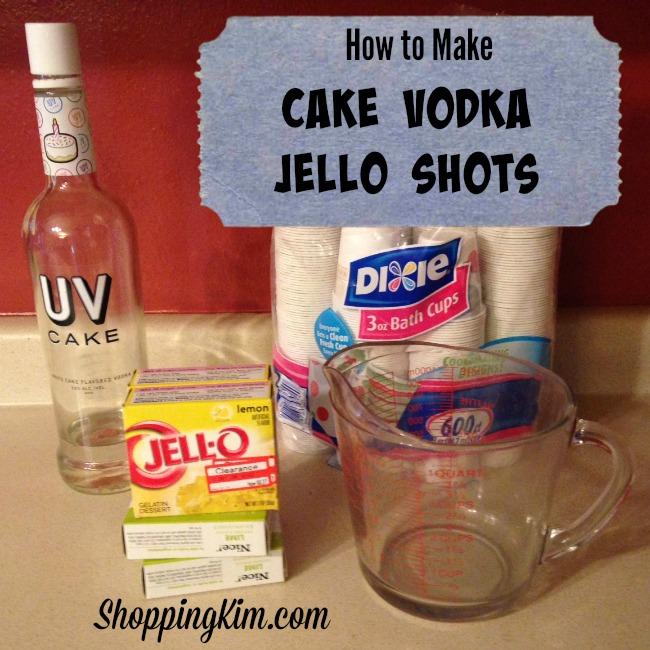 How To Make Cake Vodka Jell-O Shots