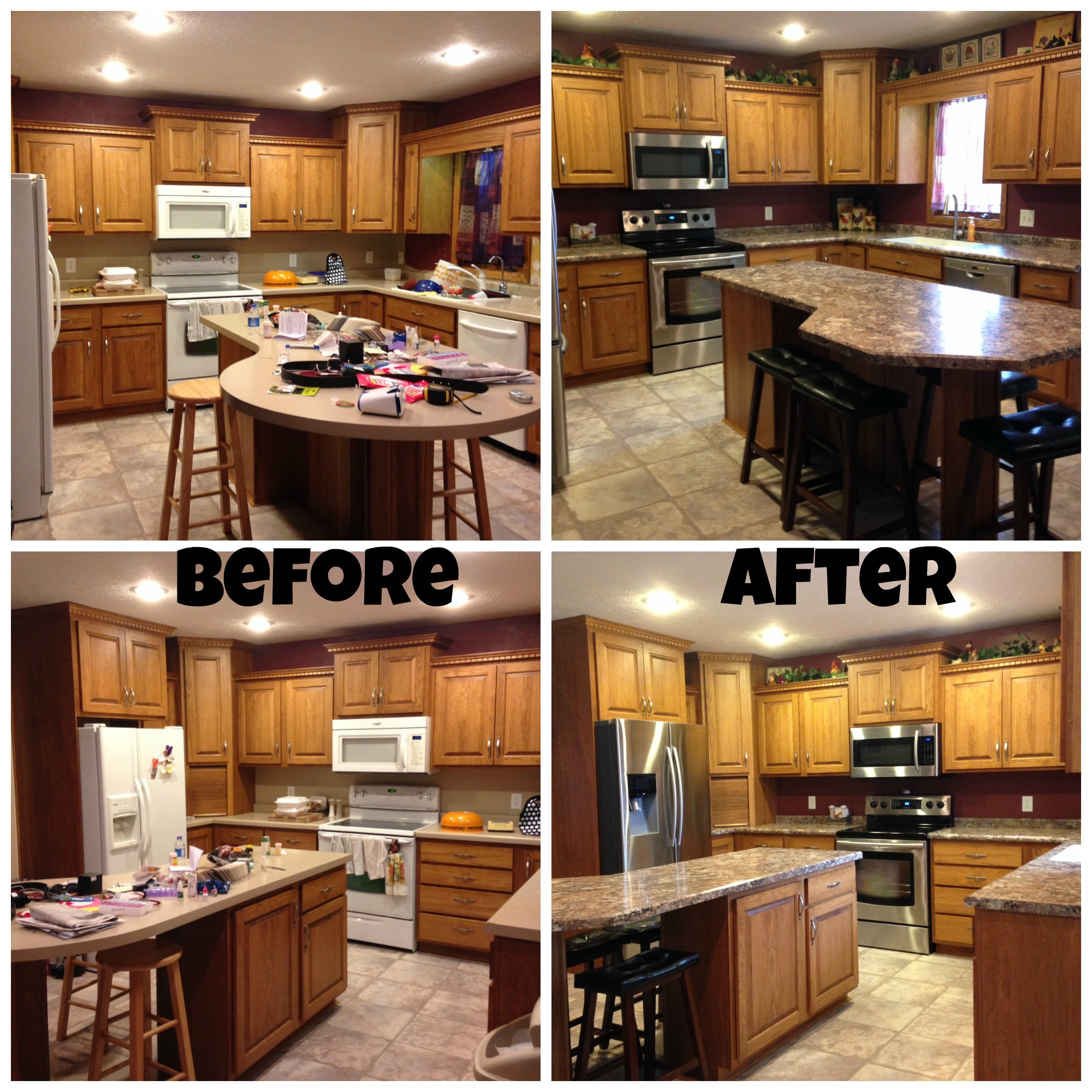 Kim's Kitchen Before / After Photos