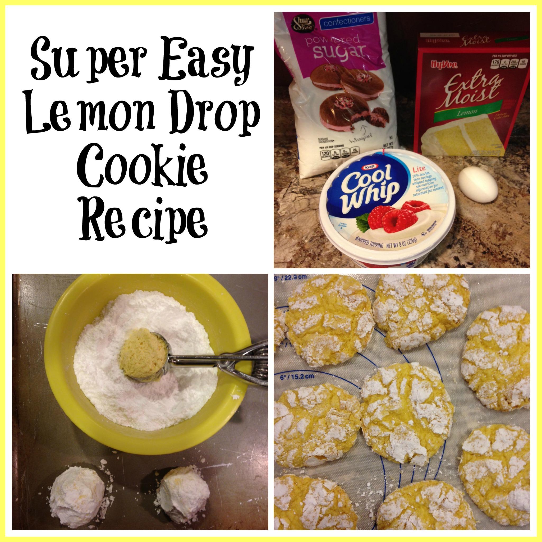 Super Easy Lemon Drop Cookie Recipe