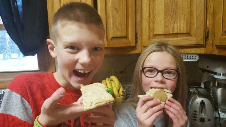 MJ & Britlee eating homemade pop-tarts