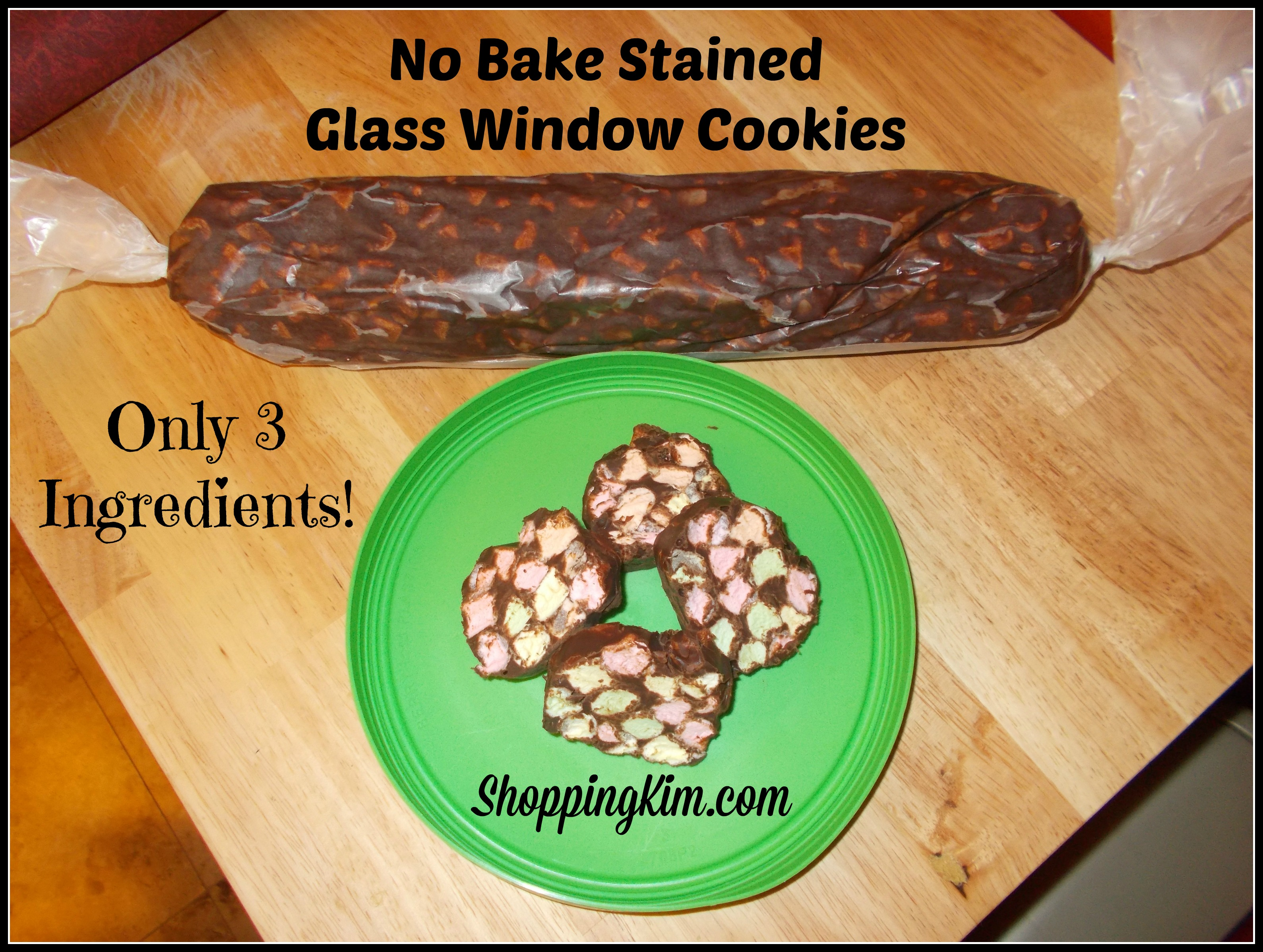 Easy 3 Ingredient Recipe: No Bake Stained Glass Window Cookies