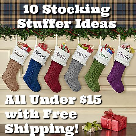 10 Stocking Stuffer Ideas All Under $15 with Free Shipping