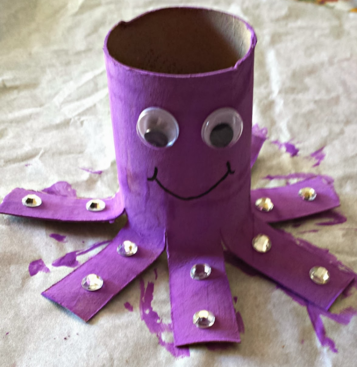 Octopus Toilet Paper Craft