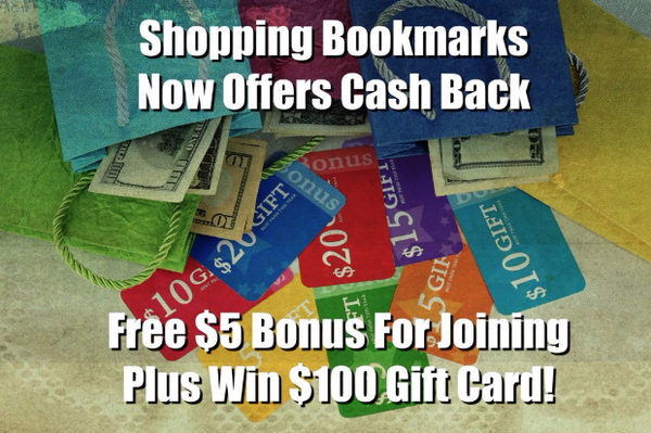 Shopping Bookmarks offers cash back at over 10,000 stores!