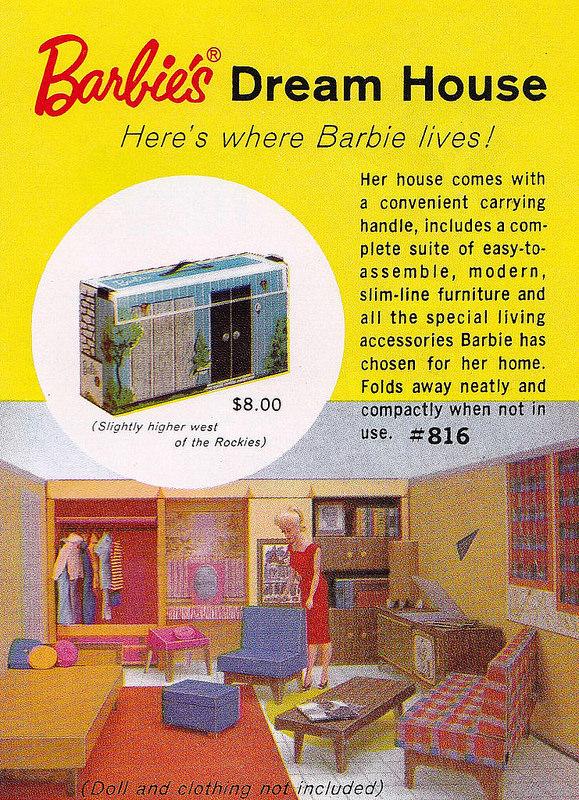 Vintage Barbie Dream House Catalog Insert